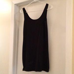 Black tight tank dress